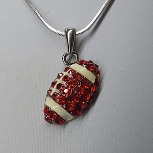 Jewelry - Ladies' NWOT Bejeweled Football Necklace